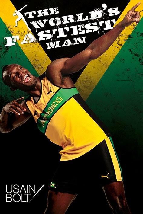 Plagát Usain Bolt - fastest man