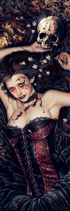 Plagát Victoria Frances - skull girl