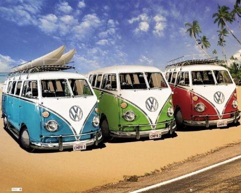 Plagát VW Volkswagen Californian Camper