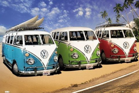 Plagát VW Volkswagen Californian - camper