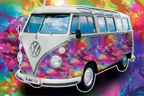 Plagát VW Volkswagen Californian camper - love