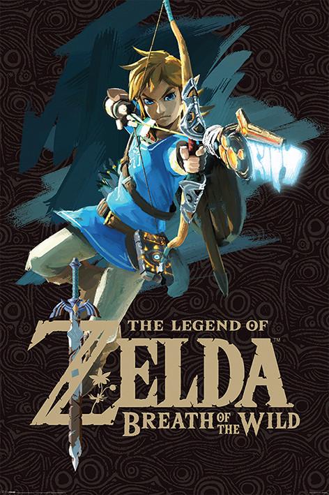 Plagát Zelda Breath of the Wild - Game Cover