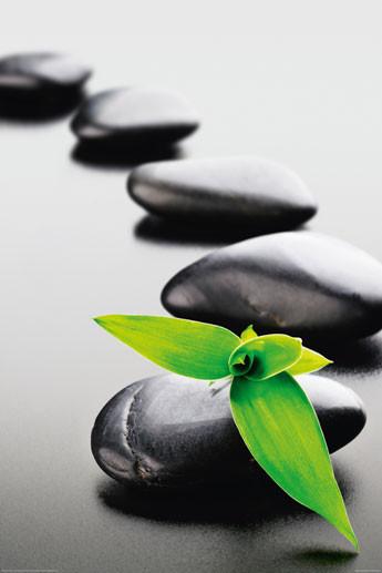 Plagát Zen stones - green