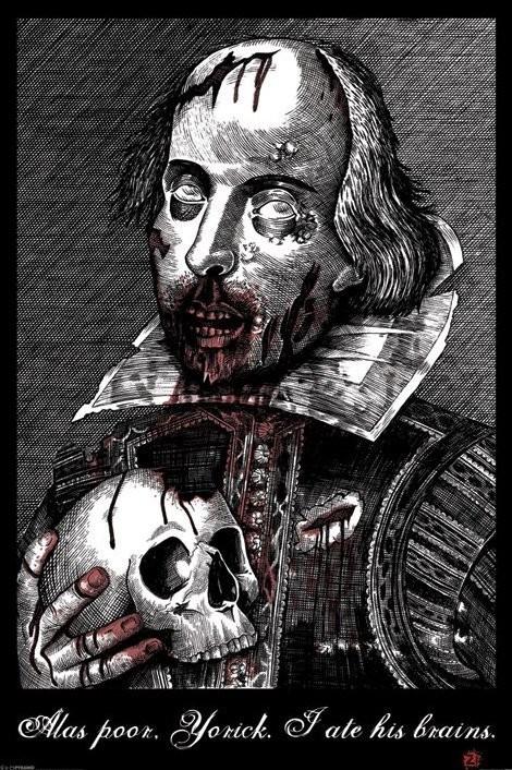 Plagát Zombie Shakespeare