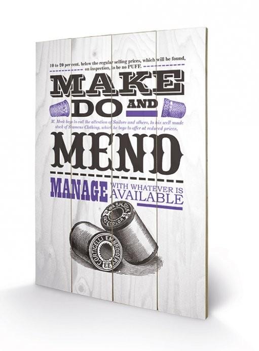 Asistended - Make Do And Mend plakát fatáblán