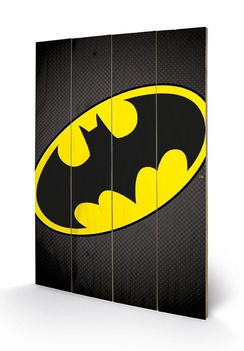 DC Comics - Batman Symbol plakát fatáblán