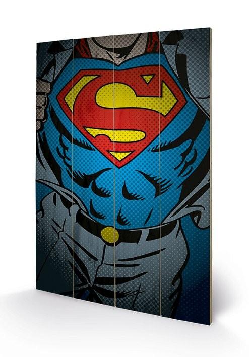 DC Comics - Superman Torso plakát fatáblán