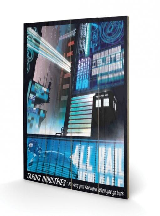 Doctor Who - Ki vagy, doki? - Tardis Industries plakát fatáblán