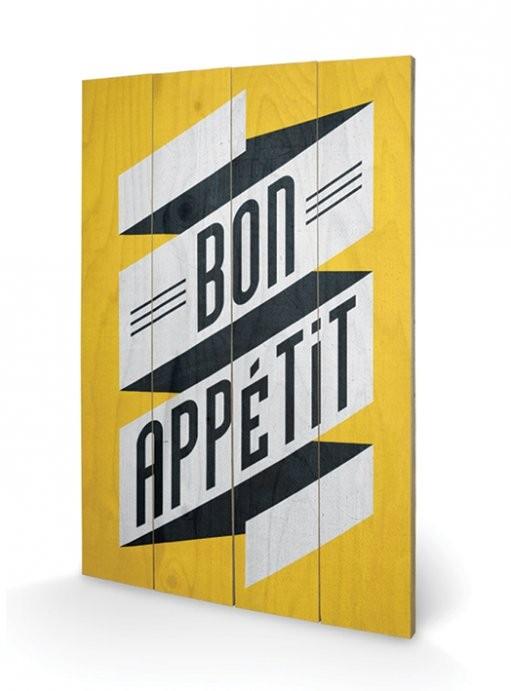 Edu Barba - Bon Appetit plakát fatáblán