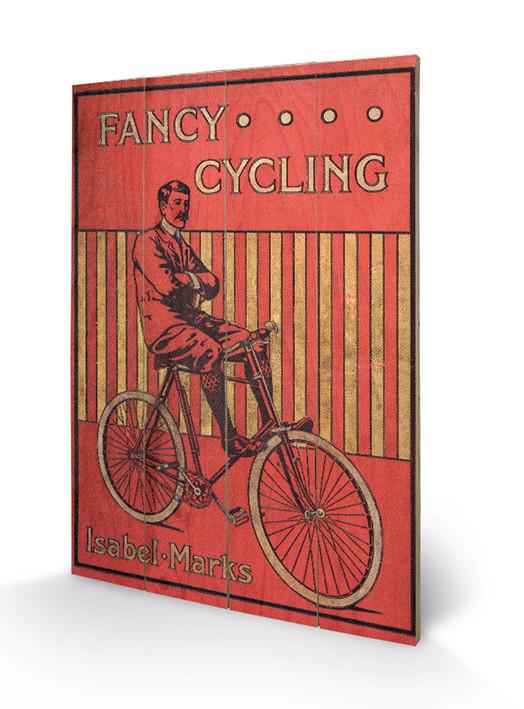 Fancy Cycling plakát fatáblán
