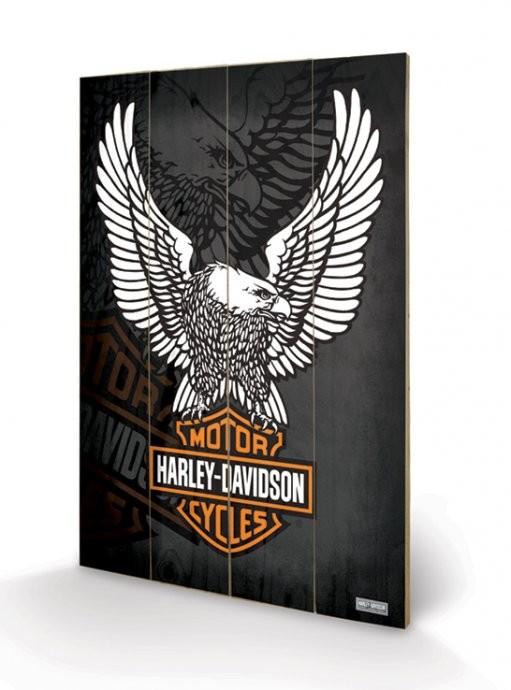 HARLEY DAVIDSON - eagle plakát fatáblán