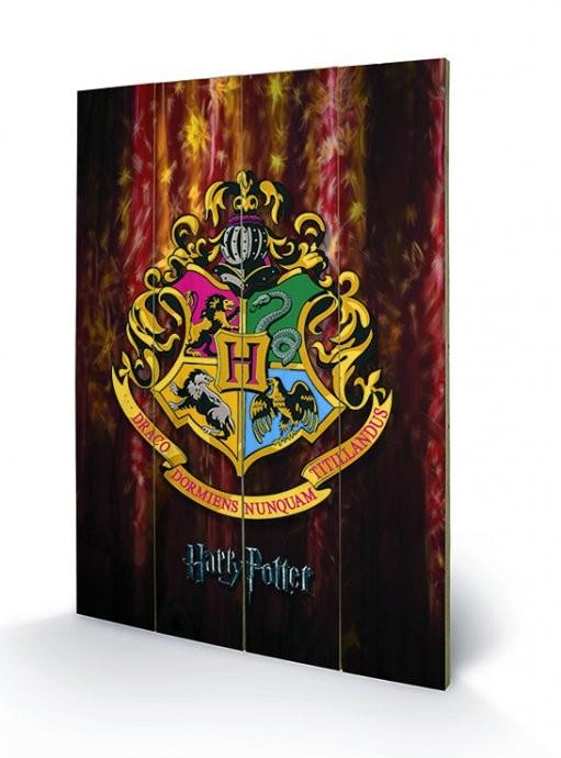 Harry Potter - Roxfort plakát fatáblán