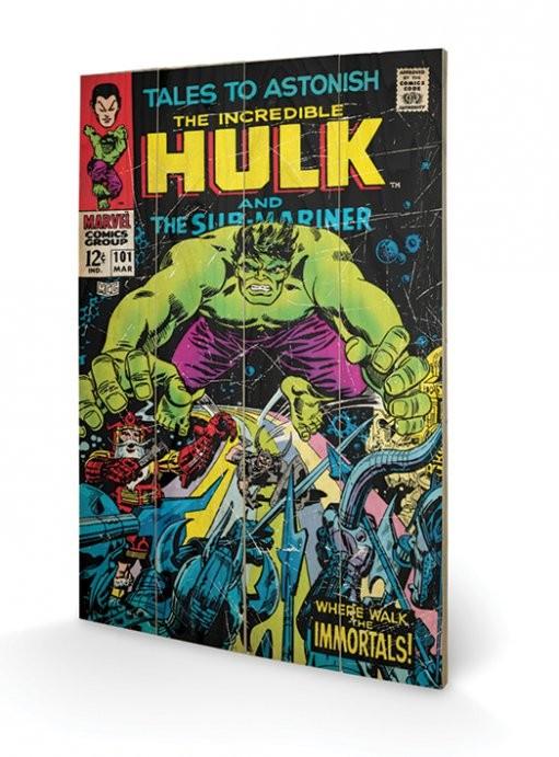 Hulk - Tales To Astonish plakát fatáblán