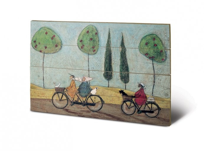 Sam Toft - A Nice Day For It plakát fatáblán