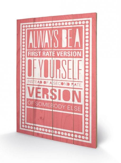 Sarah Winter - Be Yourself plakát fatáblán
