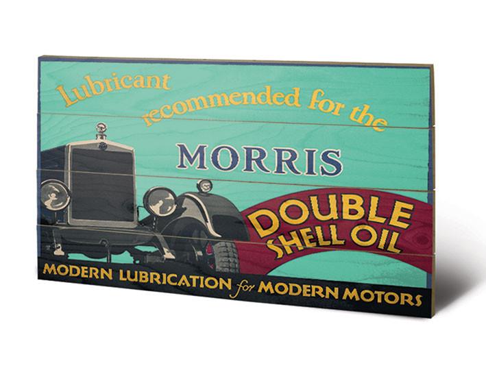 Shell - Morris, 1928 plakát fatáblán