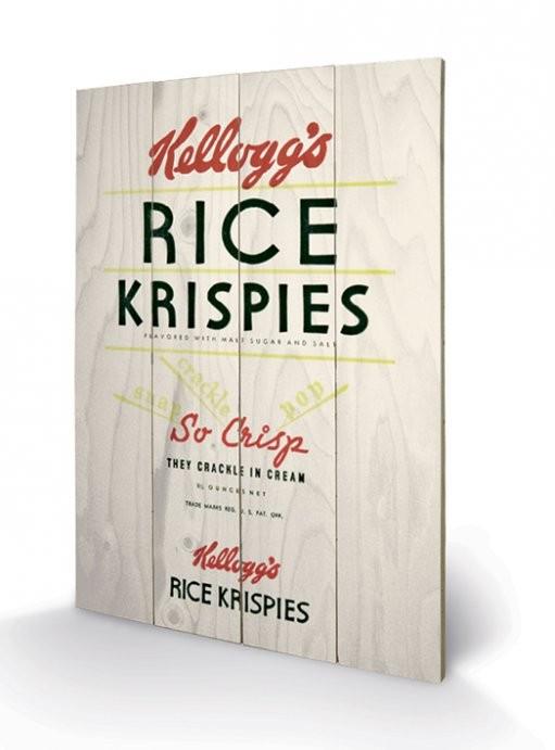 VINTAGE KELLOGGS - rise krispies plakát fatáblán