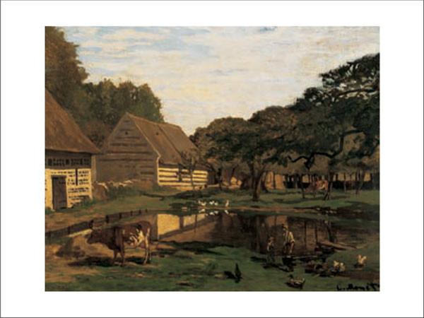 A Farmyard In Normandy Kunsttryk