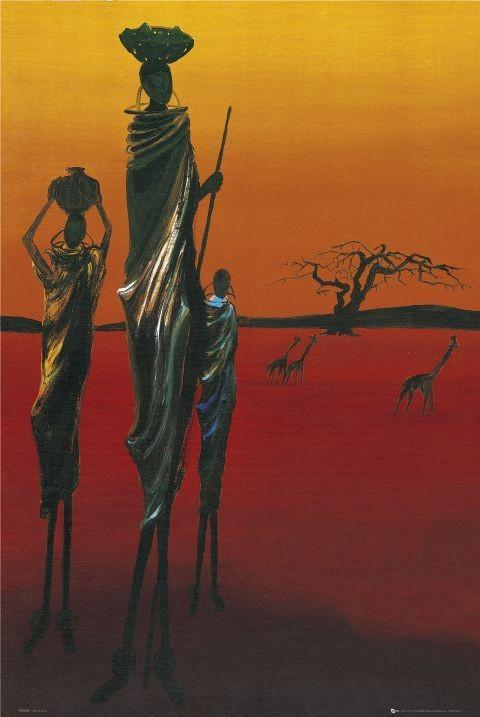 Africa - tribal Plakat