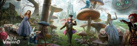 Alice in wonderland - landscape Plakat