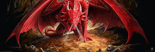 ANNE STOKES - dragons lair Plakat