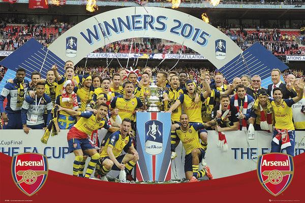 Arsenal FC - FA Cup Winners 14-15 Plakat