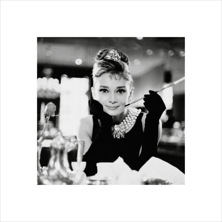 Audrey Hepburn - b&w Kunsttryk