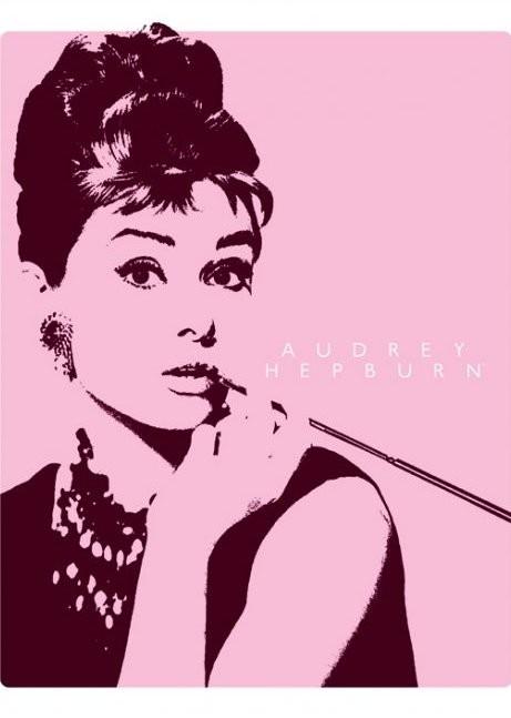 AUDREY HEPBURN - cigarello Plakat
