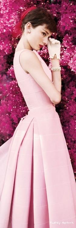 AUDREY HEPBURN - flowers Plakat