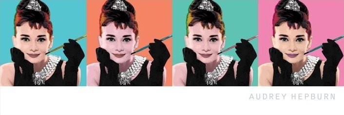 AUDREY HEPBURN - pop art 4 Plakat