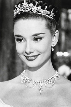 Audrey Hepburn - roman holiday Plakat
