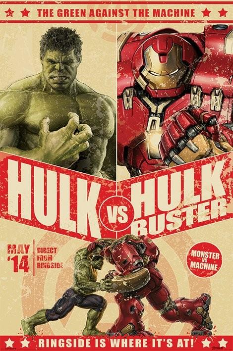 Avengers: Age Of Ultron - Hulk Vs Hulkbuster Plakat