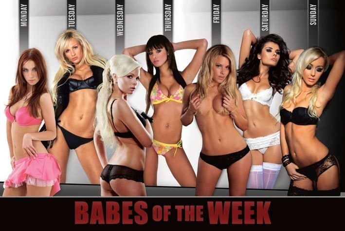 Babes of the week Plakat