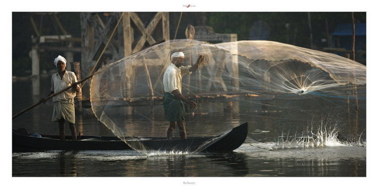 Backwater - Kerala Kunsttryk