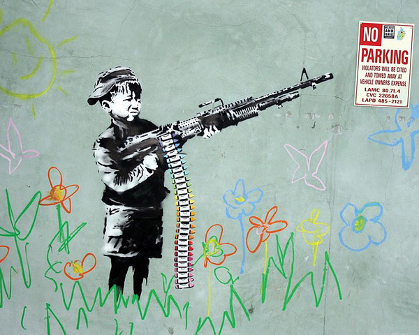Banksy Street Art - No Parking Plakat
