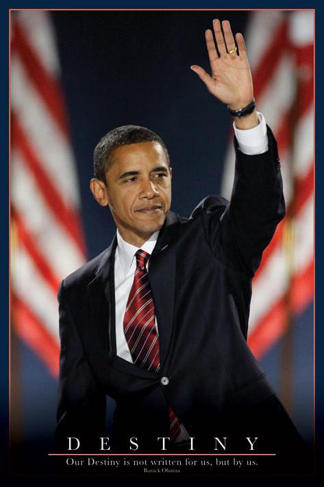 Barack Obama - osud Plakat