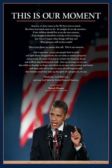 Barack Obama - this is our moment Plakat