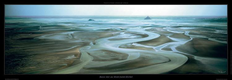 Basse mer au Mont Saint-Michel Kunsttryk