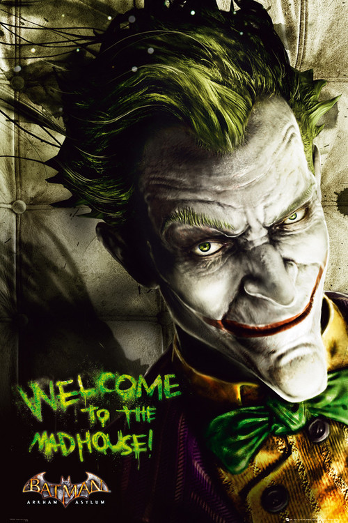 BATMAN ARKAM ASYLUM - joker Plakat