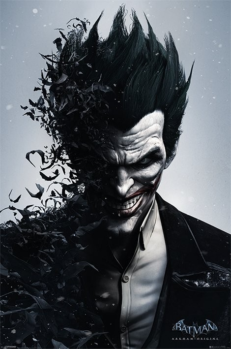 BATMAN ARKHAM ORIGINS - joker Plakat