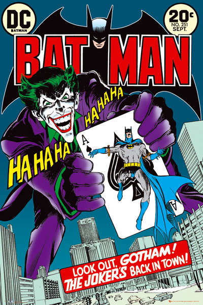 BATMAN - jokers back Plakat