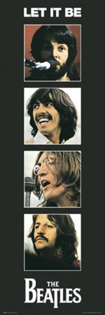 Beatles – let it be Plakat