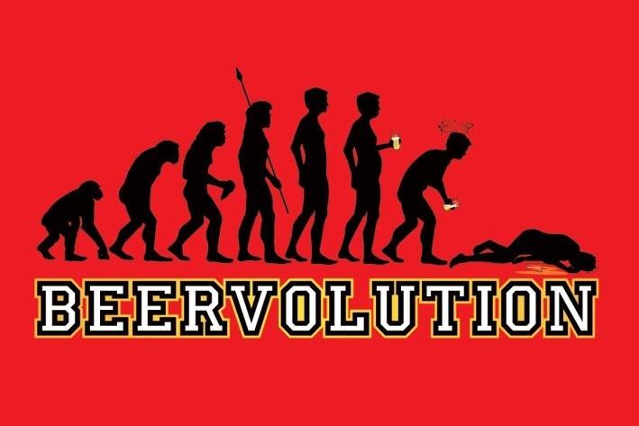 Beer evolution Plakat