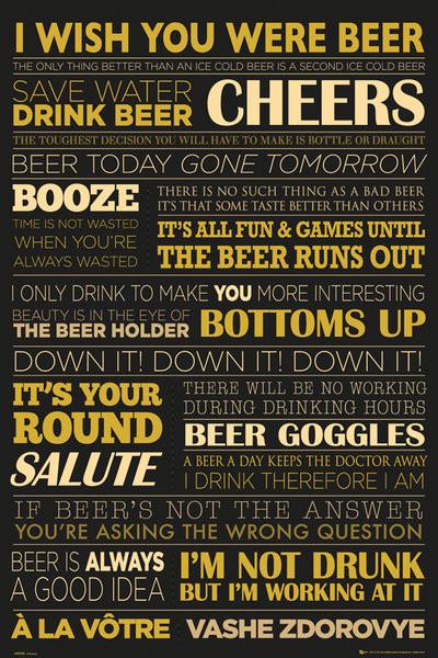 Beer - life Plakat