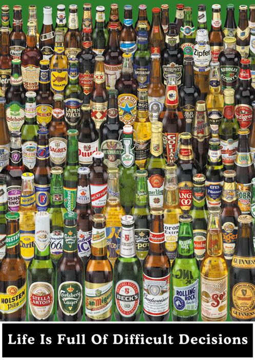 Beer - life is full ... Plakat