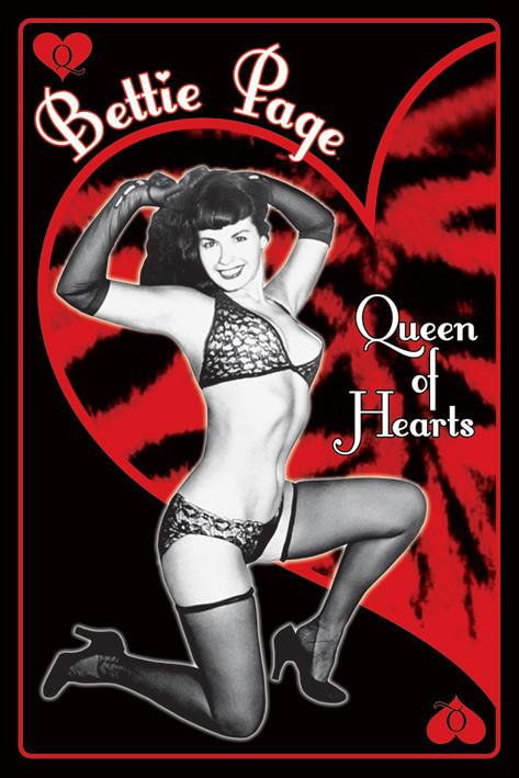 Bettie Page - queen of hearts Plakat