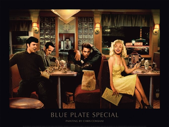 Blue Plate Special - Chris Consani Kunsttryk