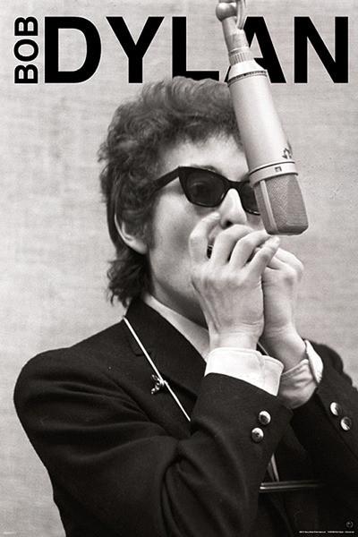Bob Dylan - harmonica Plakat