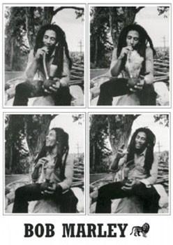 Bob Marley - 4 b&w.ikony Plakat