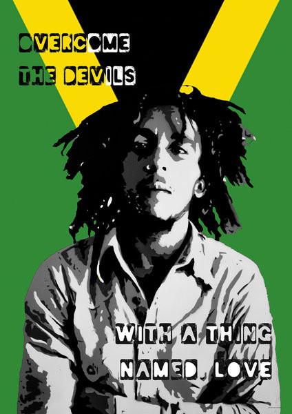 Bob Marley - Collage Plakat